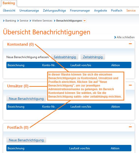 Raiffeisenbank Bad Saulgau eG Benachrichtigungsservice